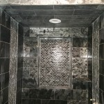 Bathroom Shower with Tile Ceiling