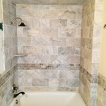 Porcelain Bathroom Shower with border